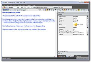 Diary Editor:: Easy to use rich text editor with spell checking